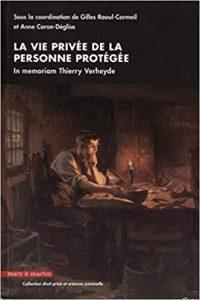 Couverture du livre : la vie privée de la personne protégée